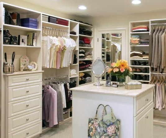White Walk In Closet walk-in-closet
